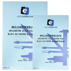 Alex Schoeller - Alex Schoeller Milimetrik Blok Mavi 80g 20 Yaprak
