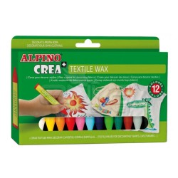 Alpino - Alpino Crea Textile Wax Kumaş İçin Mumlu Boya 12li