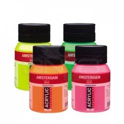 Amsterdam - Amsterdam Akrilik Boya Fosforlu Renkler 500ml