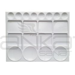 Anka Art - Anka Art Plastik Dikdörtgen Palet 20 Gözlü 32x25cm