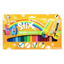 Artline - Artline Stix Brush Marker 20 Renk