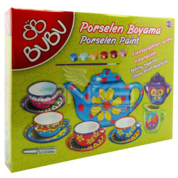 Bubu - BuBu Porselen Boyama Seti Simli