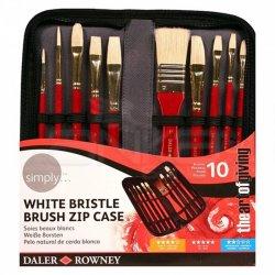 Daler Rowney - Daler-Rowney Simply Oil White Bristle Fırça Set Çantalı