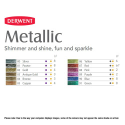 Derwent Metallic Pencil Sulu Boya Kalemi - Thumbnail