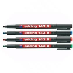 Edding - Edding 143B Kesik Uçlu Permanent Markör Kalemi
