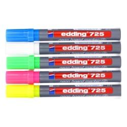 Edding - Edding 725 Neon Beyaz Tahta Kalemi