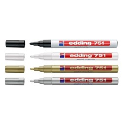 Edding - Edding 751 Paint Markör Kalem 1-2mm