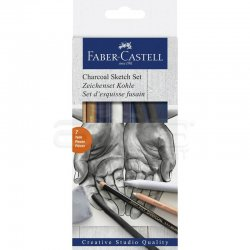 Faber Castell - Faber Castell Charcoal Sketch Set 7li