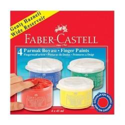 Faber Castell - Faber Castell Parmak Boyası 4 Renk