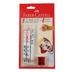 Faber Castell - Faber Castell Yüz Boyası Kalemi 6 Renk