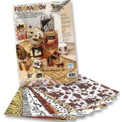 Folia - Folia Fotokarton 50x70 Hayvan Desenli No:5709 10 lu