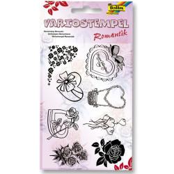 Folia - Folia Slikon Stamp Baskı Romantik-30104