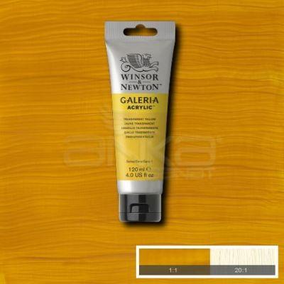 Galeria 120ml Akrilik Boya No:653 Transparent Yellow - 653 Transparent Yellow