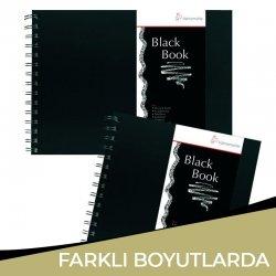 Hahnemühle - Hahnemühle Black Book 250g 30 Yaprak