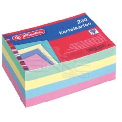 Herlitz - Herlitz Karteikarten Index Cards 200lü Çizgili Karışık Renk A6 10836211