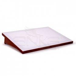 Karin - Karin Çizim Masası Led Işıklı-Kahverengi Gövde 50x70cm