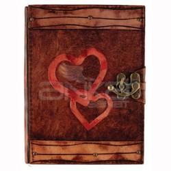 Krafton - Krafton Deri Defter Büyük Boy Heart to Heart 64201-4