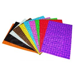 Lino Karadeniz - Lino Spiral Desenli Simli Kağıt A4 10 Renk