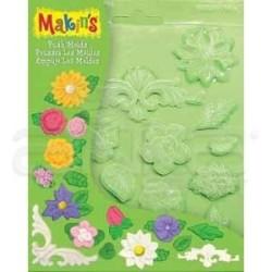 Makins Clay - Makins Clay Push Mold Şekilleme Kalıbı Çiçekler Kod:39005