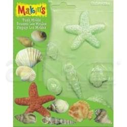 Makins Clay - Makins Clay Push Mold Şekilleme Kalıbı Deniz Kabukları Kod:39003