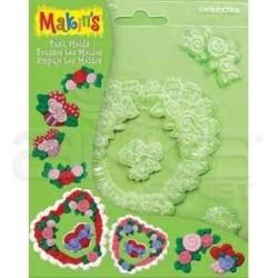 Makins Clay - Makins Clay Push Mold Şekilleme Kalıbı Kalpler Kod:39004