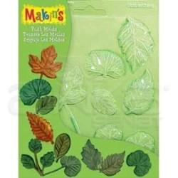 Makins Clay - Makins Clay Push Mold Şekilleme Kalıbı Yapraklar Kod:39001