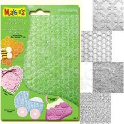 Makins Clay - Makins Clay Texture Sheets Doku Kalıpları 4lü Set C