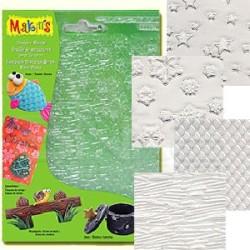 Makins Clay - Makins Clay Texture Sheets Doku Kalıpları 4lü Set D