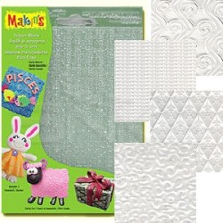 Makins Clay - Makins Clay Texture Sheets Doku Kalıpları 4lü Set E
