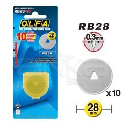 Olfa - Olfa Maket Bıçağı 10'lu Yedek Uç-RB28-10