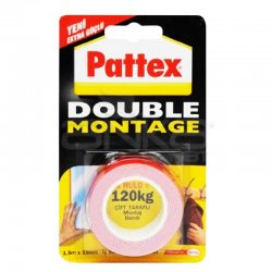 Pattex - Pattex Double Montage Çift Taraflı Montaj Bandı 1.5m x 19mm