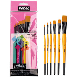 Pebeo - Pebeo Çok Amaçlı Hobi Fırça Seti 3