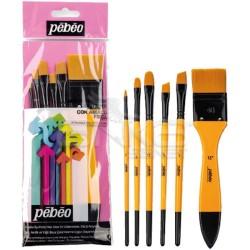 Pebeo - Pebeo Çok Amaçlı Hobi Fırça Seti 8