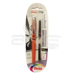 Pentel - Pentel Arts Pocket Brush Kalem ve Refill Seti Kod:XGFKPF/FP10