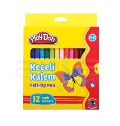 Playdoh - Play-Doh 12 Renk Keçeli Kalem Karton Kutu 5mm KE007