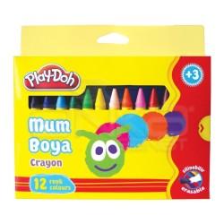 Playdoh - Play-Doh 12 Renk Mum Boya 11mm Büyük Boy CR005