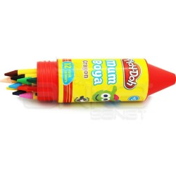 Playdoh - Play-Doh 12 Renk Mum Boya 11mm Tüp CR006