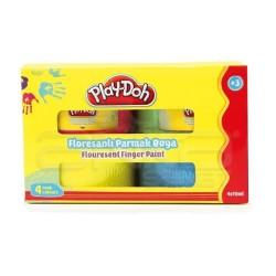 Playdoh - Play-Doh 4 Renk Floresanlı Parmak Boya 70ml PR016