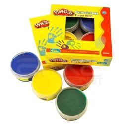 Playdoh - Play-Doh 4 Renk Parmak Boya 50ml PR017
