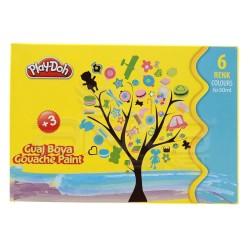 Playdoh - Play-Doh 6 Renk Guaj Boya 30ml GU001