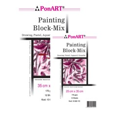 Ponart - Ponart Painting Block Mix 170g 15 yp