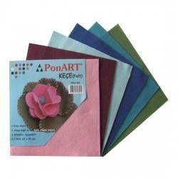 Ponart - Ponart Renkli Keçe (Felt) 25x25cm Karışık 6 Renk Kod: PFS-03