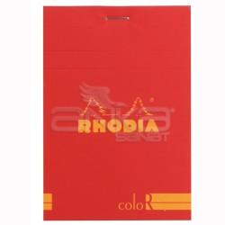 Rhodia - Rhodia Basic Çizgili Bloknot Poppy Kapak 90g 70 Yaprak