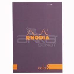 Rhodia - Rhodia Basic Çizgili Bloknot Purple Kapak 90g 70 Yaprak