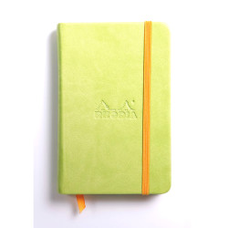 Rhodia - Rhodia Boutique Rodiarama Renkler Italyan Deri Çizgisiz Defter Anis Green A6 96 Yaprak