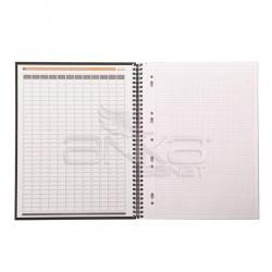 Rhodia - Rhodia Business Collection Notebook Spiralli Kareli Defter 22,5x29,7cm 80 Yaprak 90g