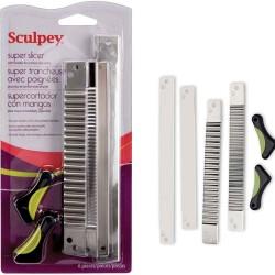 Sculpey - Sculpey Super Slicer Kil Kesme Bıçağı 4lü Set
