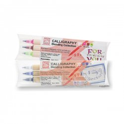 Zig - Zig Calligraphy Blending Collection Çift Uçlu 3 Renk Kaligrafi Kalemi Setleri 2mm-5mm