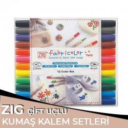 Zig - Zig Fabricolor Twin Çift Uçlu Kumaş Kalemi Setleri