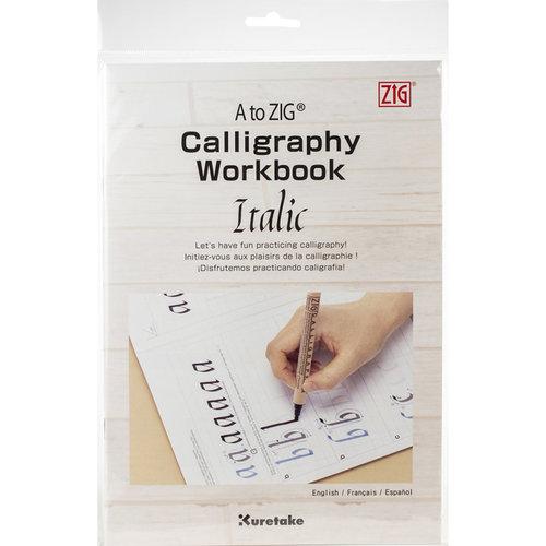 A to Zig Calligraphy Workbook İtalik Çalışma Kağıdı 201-801